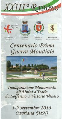 Centenaire 1ere Guerre Mondiale Cavriana